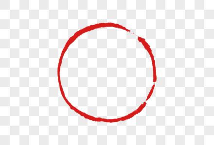 手绘中国风圆装饰印章图片