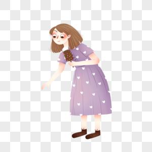 吃雪糕的女孩图片
