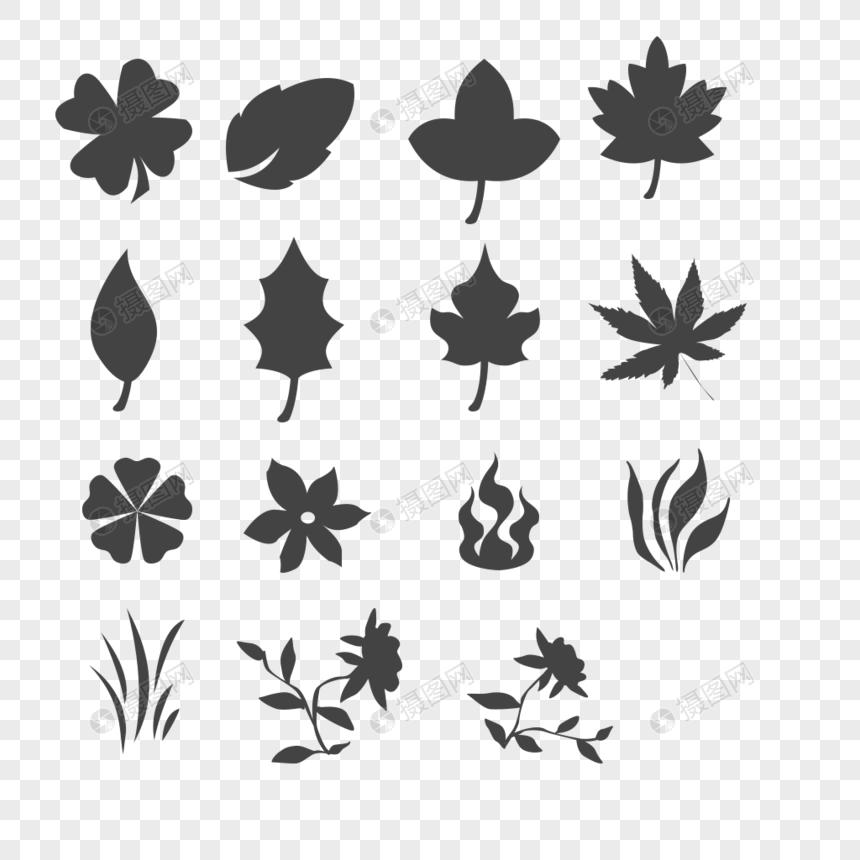 树叶图标绿色植物图标元素图片