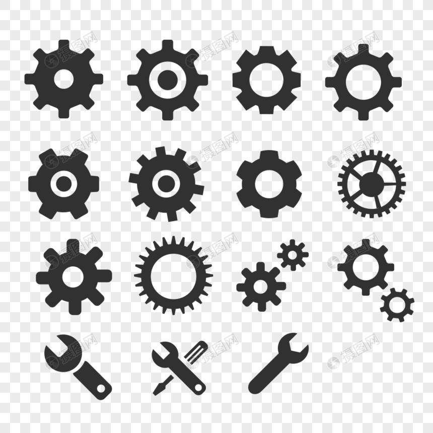 设置图标网站图标app图标齿轮图标图片
