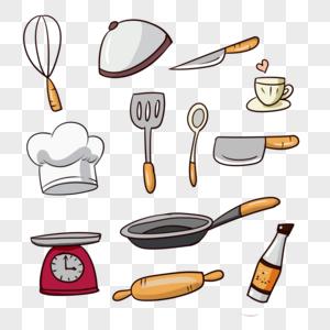 手绘厨房用品图片