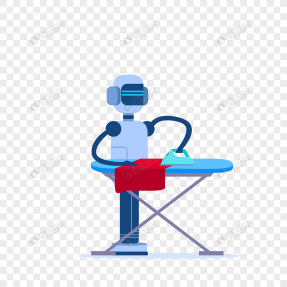 智能机器人做家务熨烫衣服图片