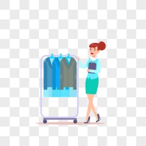 买衣服试衣服元素图片