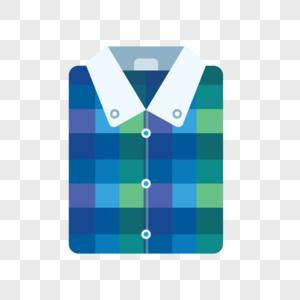格子衬衫图标素材图片
