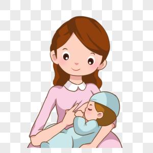 卡通母亲哺乳图片图片