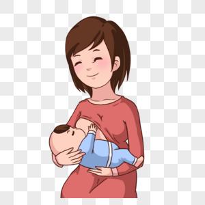 卡通母亲哺乳幼儿图片图片
