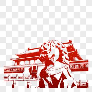 天安门广场剪影图片