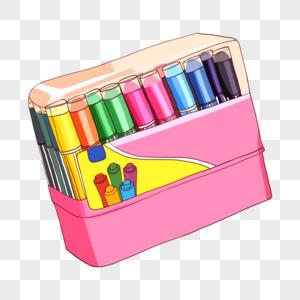 一盒彩笔图片