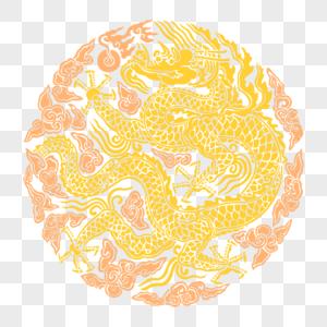 中国风圆形龙纹素材下载图片