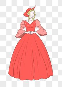 端庄美丽的贵族小姐图片