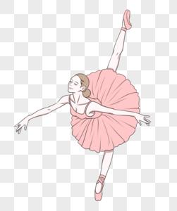 粉色芭蕾舞裙的舞者图片