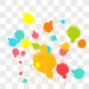 涂鸦颜料彩色墨水笔迹喷墨美术喷溅泼墨图片