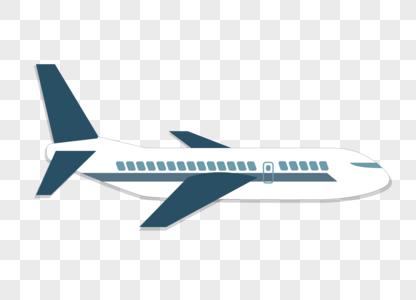 手绘卡通飞机扁平化矢量图素材图片