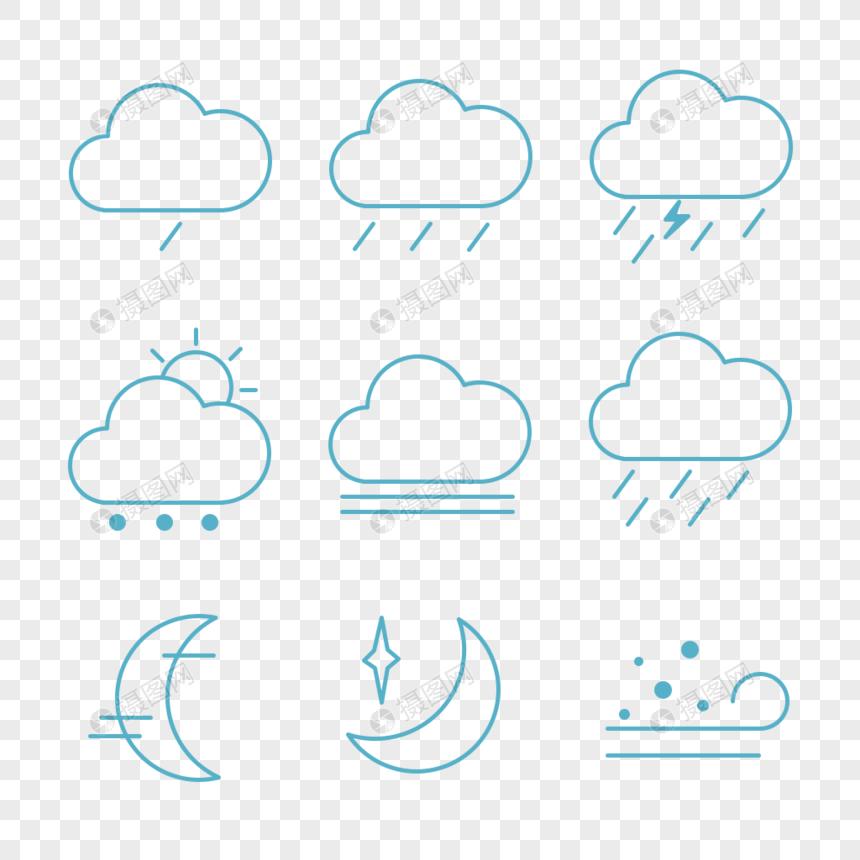 天气状况图标图片