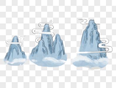 卡通山峰图片