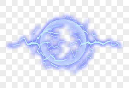 蓝色电球图片