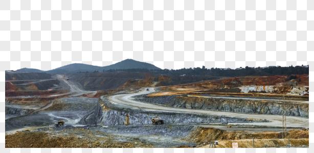 西班牙古矿里奥廷托全景图图片