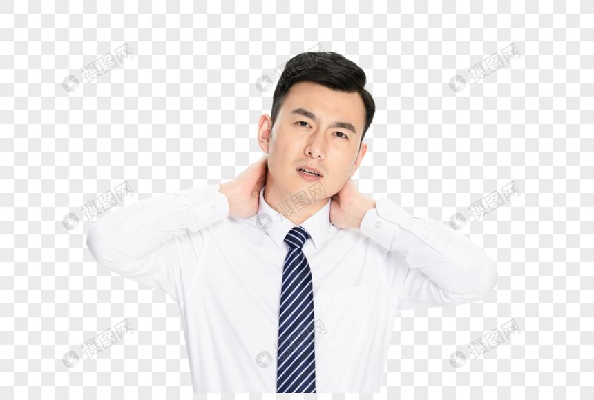 商务男性劲椎病图片