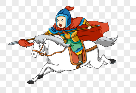 骑马的岳飞图片