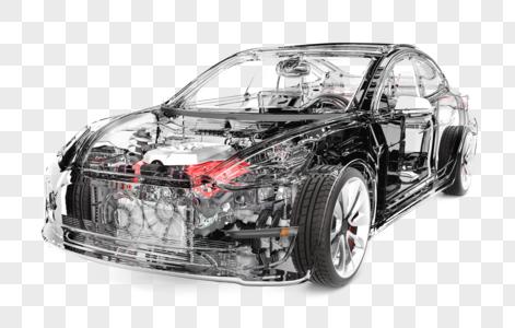 炫酷透明汽车场景图片