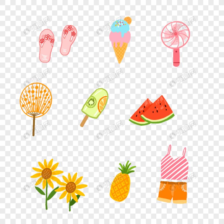 雪糕西瓜小风扇图片