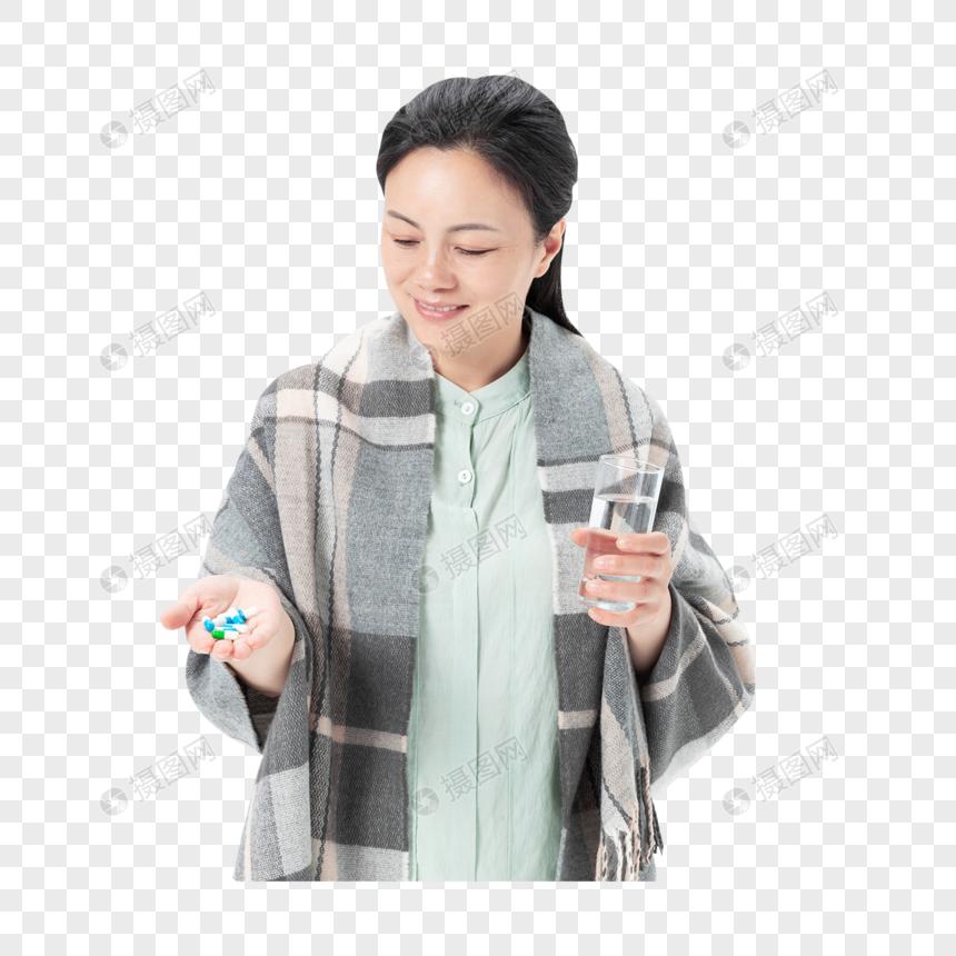 中年女性生病图片