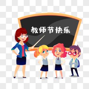 教师节老师上语文课场景元素图片