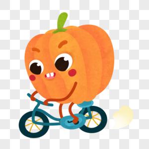 骑自行车南瓜图片