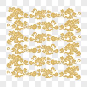 金色祥云底纹背景图片