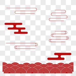 春节传统纹理背景红色图片