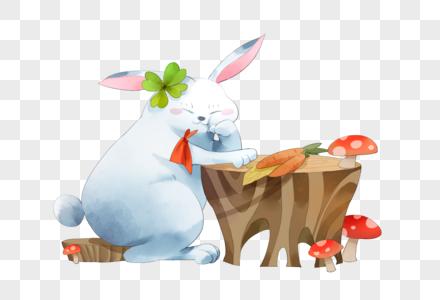 丰收的兔子图片