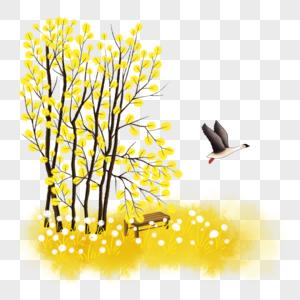 秋季卡通场景图片