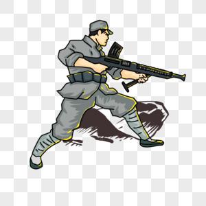 浴血奋战红军战士图片