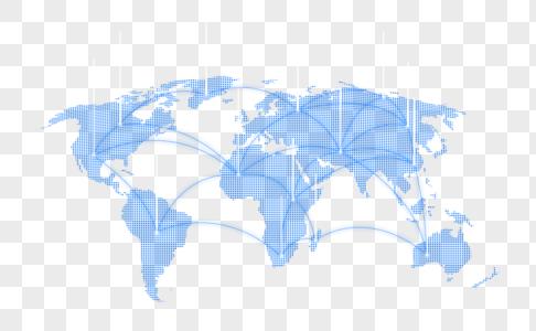 创意科技风全球网络通讯图片