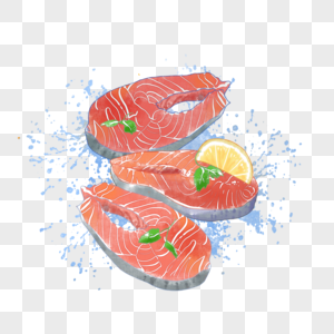 新鲜三文鱼肉图片