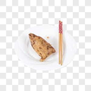 盘子里的粽子图片