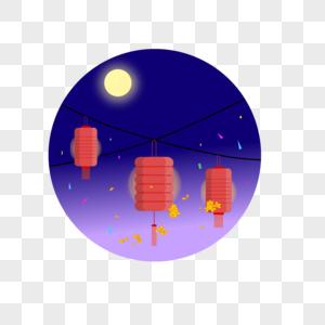 中国风中秋灯笼图片