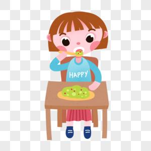 吃饭儿童图片