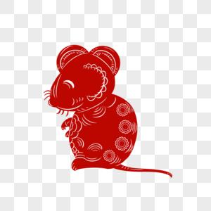 老鼠剪纸图片