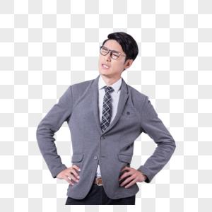 疑惑正在思考的职业商务男性图片