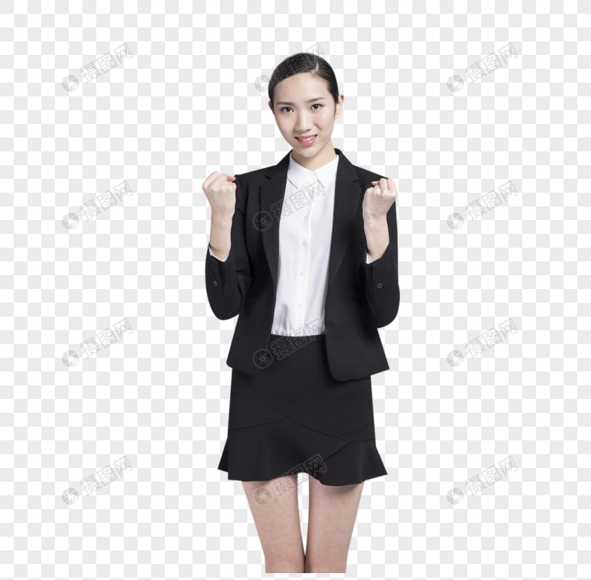 商务女性加油手势图片