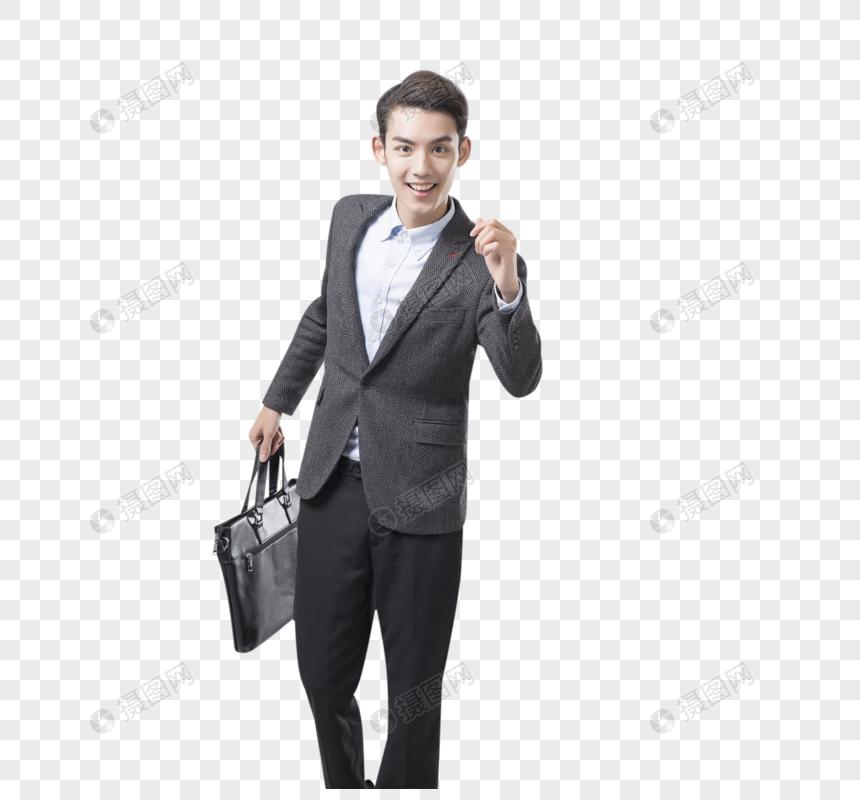 拿着公文包的商务男士图片