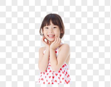 清新可爱小女孩惊讶图片