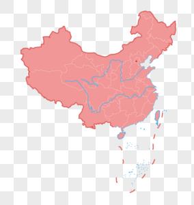 中秋彩色图片_立体中国地图元素素材下载-正版素材401613811-摄图网