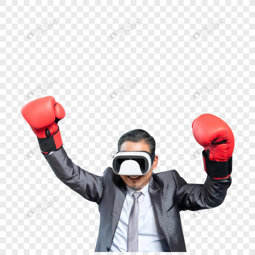 商务男士办公室vr拳击图片