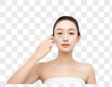 女性整容医美整形鼻子打针图片