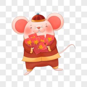 新年发红包的老鼠图片