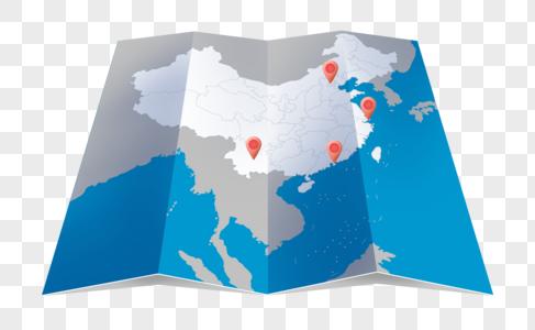 折纸地图图片