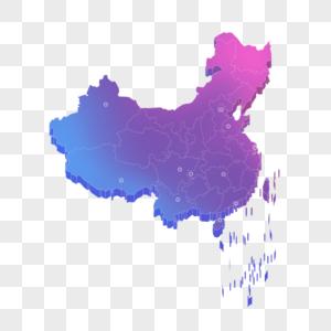 彩色立体地图图片