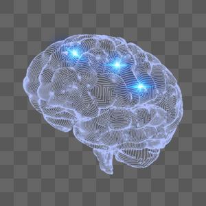 未来派科技大脑图片